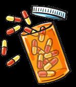 open pill bottle
