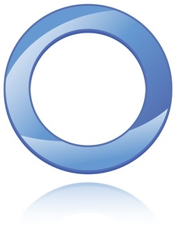 Universal blue circle symbol for diabetes. Vector illustration.